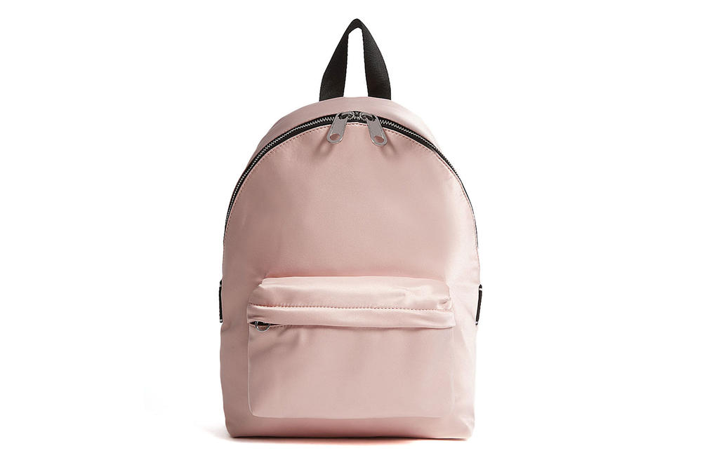 Tommy Jeans Logo Tape Satin Mini Backpack Rose Cloud pink Pumice Stone Grey