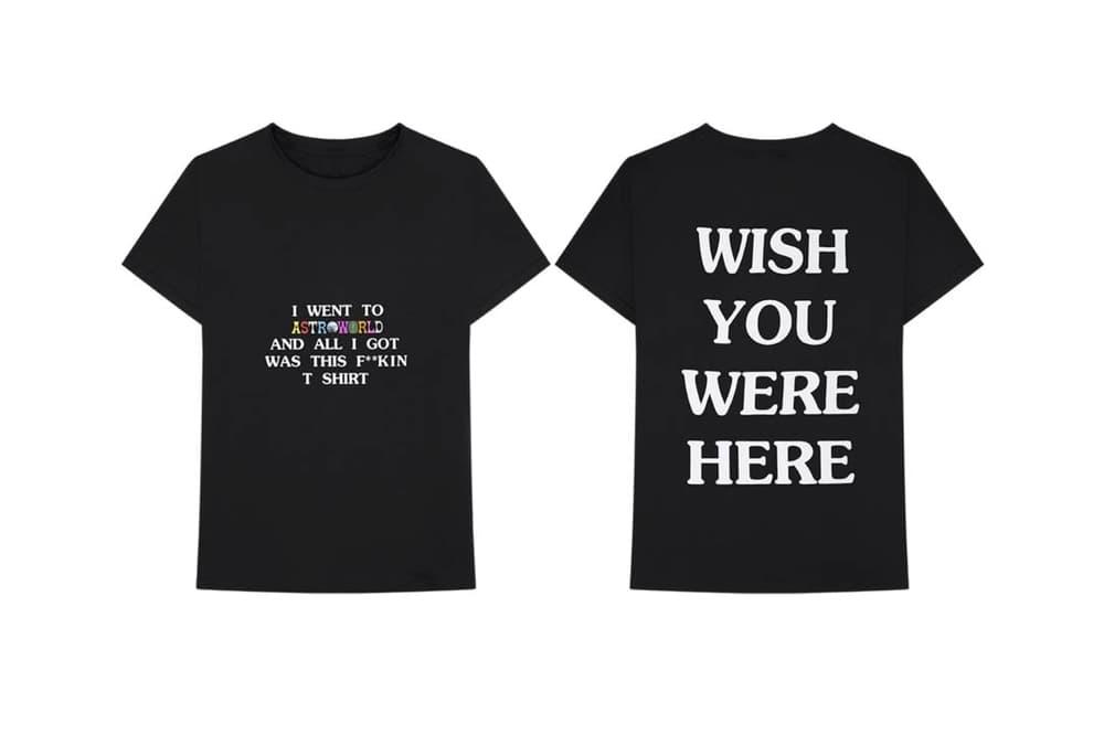 Travis Scott Astroworld T Shirt Black