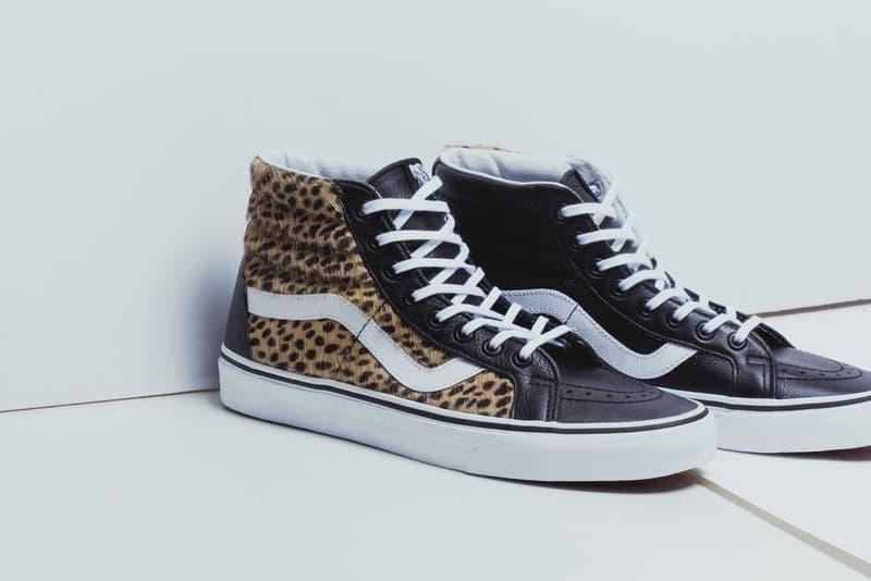 "Vans ""Calf Hair"" Pack Sk8-Hi, Slip-On and Era Leopard Print Checkered Texture Hair Brown White Black"