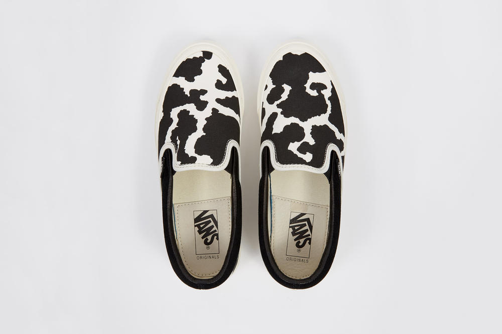 Vans Vault OG Classic Slip-On LX Cow Black White