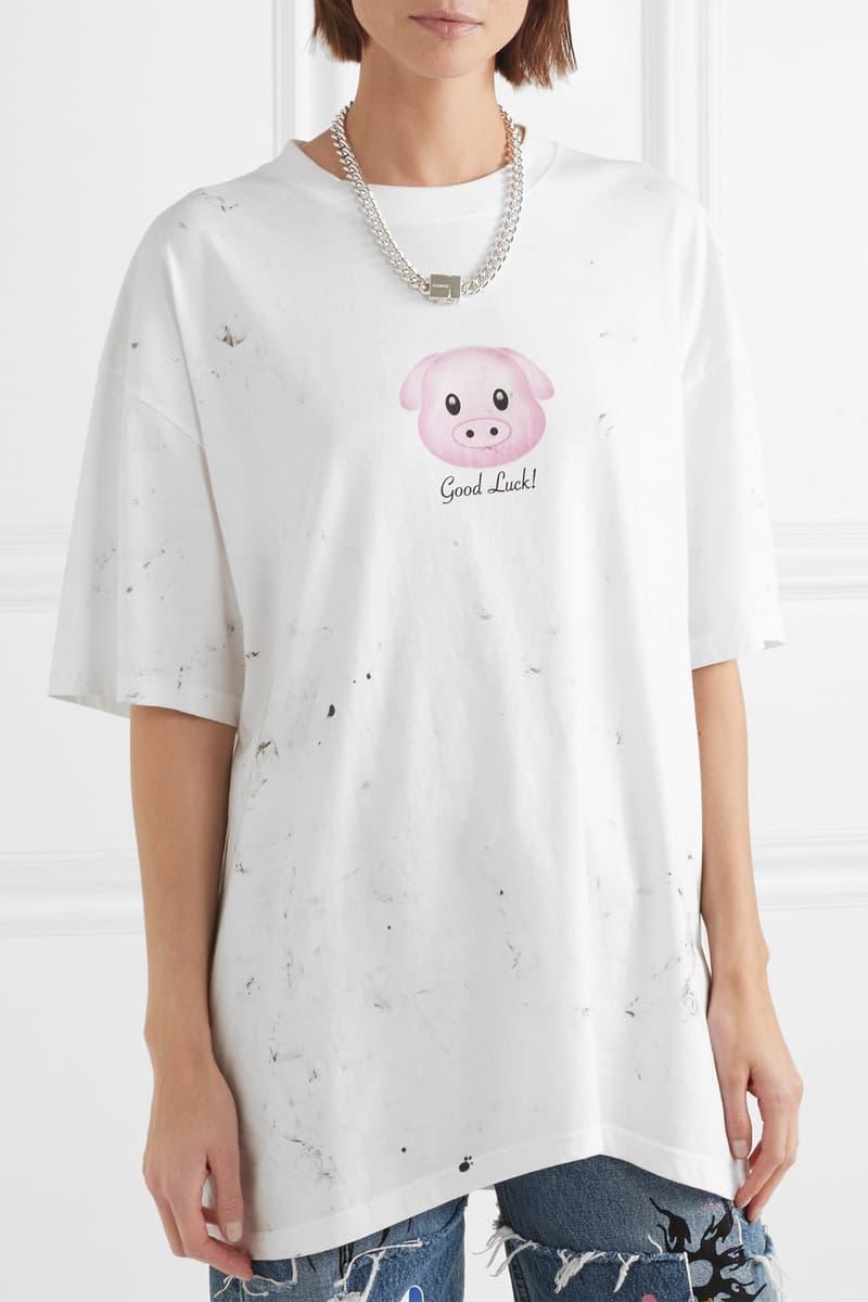 Vetements Good Luck Pig 2019 Calendar Graphic Unisex T-Shirt