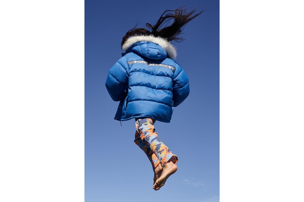 Acne Studios x Fjällräven Collaboration Lookbook Expedition Coat Blue Camouflage Pants