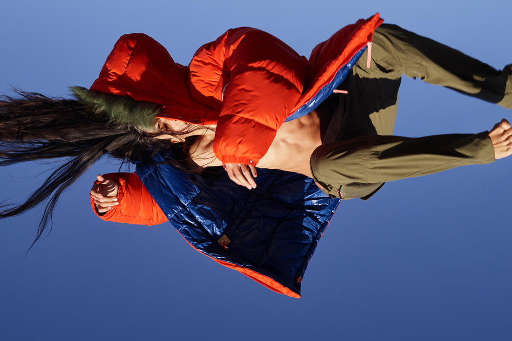 Acne Studios x Fjällräven Collaboration Lookbook Expedition Coat Deep Orange Pants Green
