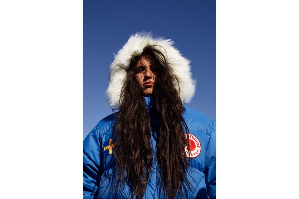 Acne Studios x Fjällräven Collaboration Lookbook Expedition Coat Blue