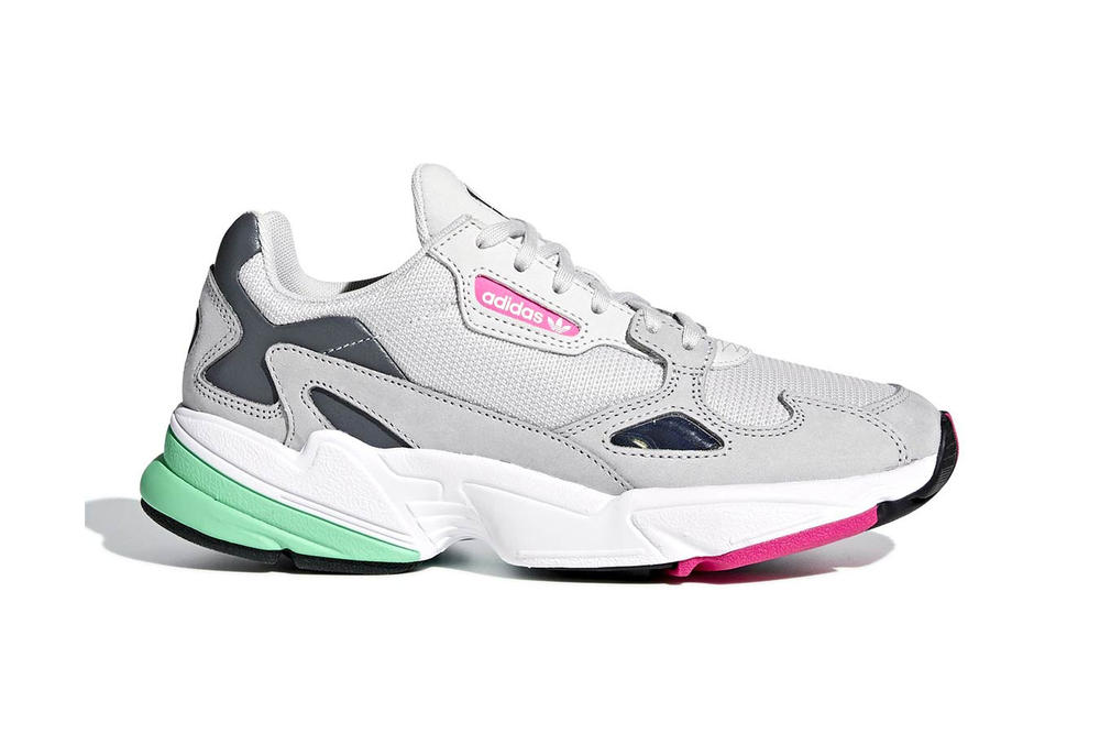 Adidas Originals Falcon Gray In Pink And Green Hypebae