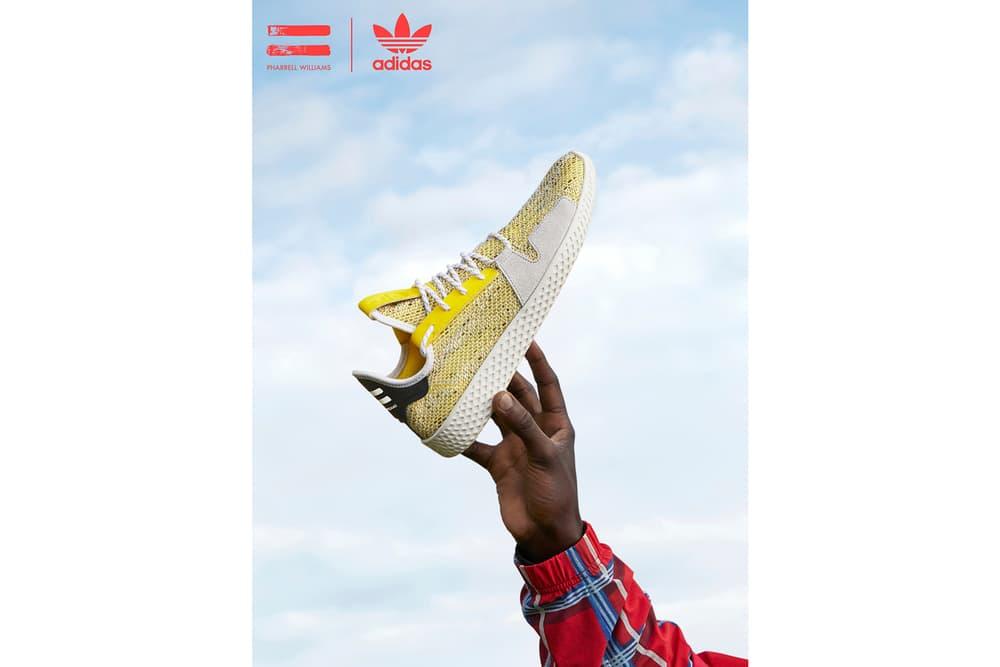 Pharrell Williams x adidas Originals SOLARHU Pack Tennis Hu Yellow
