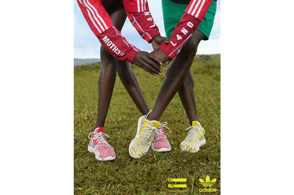 Pharrell Williams x adidas Originals SOLARHU Pack Tennis Hu V2 Red Yellow