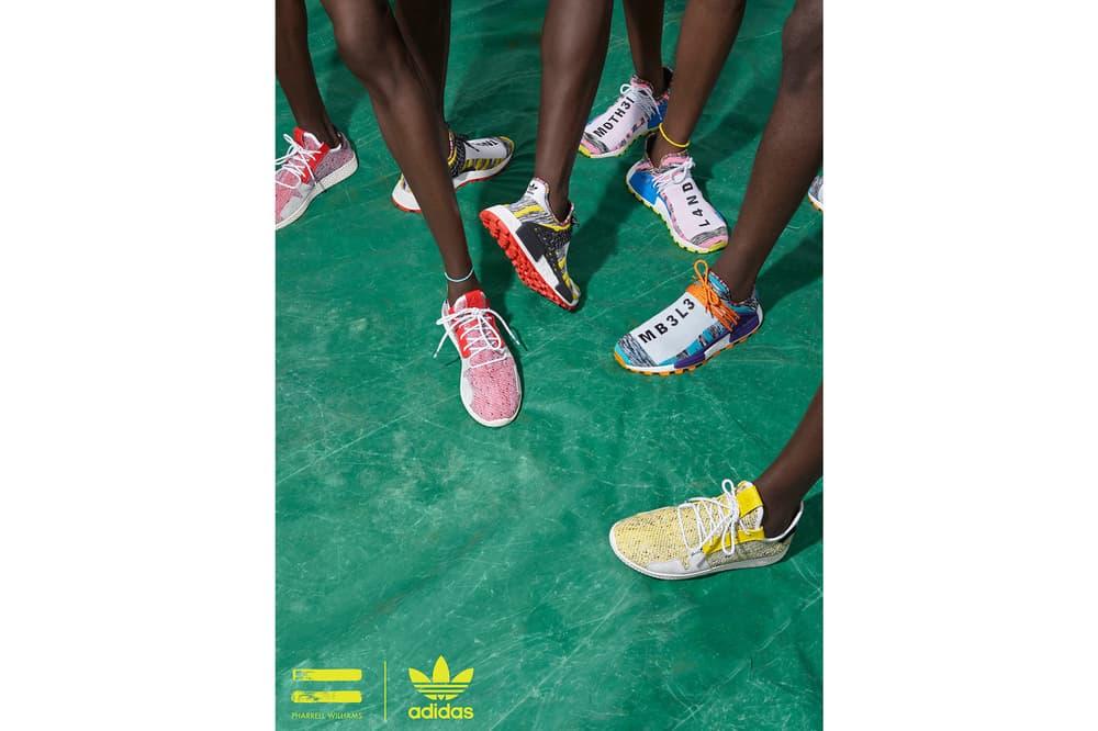 Pharrell Williams x adidas Originals SOLARHU Pack Hu NMD M1L3L3 MOTH3R Tennis Yellow Red
