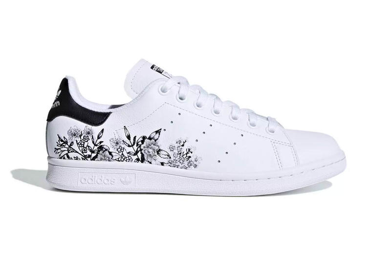 Adidas stan smith in floral black and white hypebae adidas originals stan smith floral black white rainbow mightylinksfo