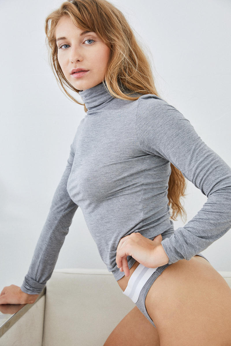 American Apparel Mixed Modal Basic Collection Underwear Grey Pink Sportsbra Sweater Sweatpants