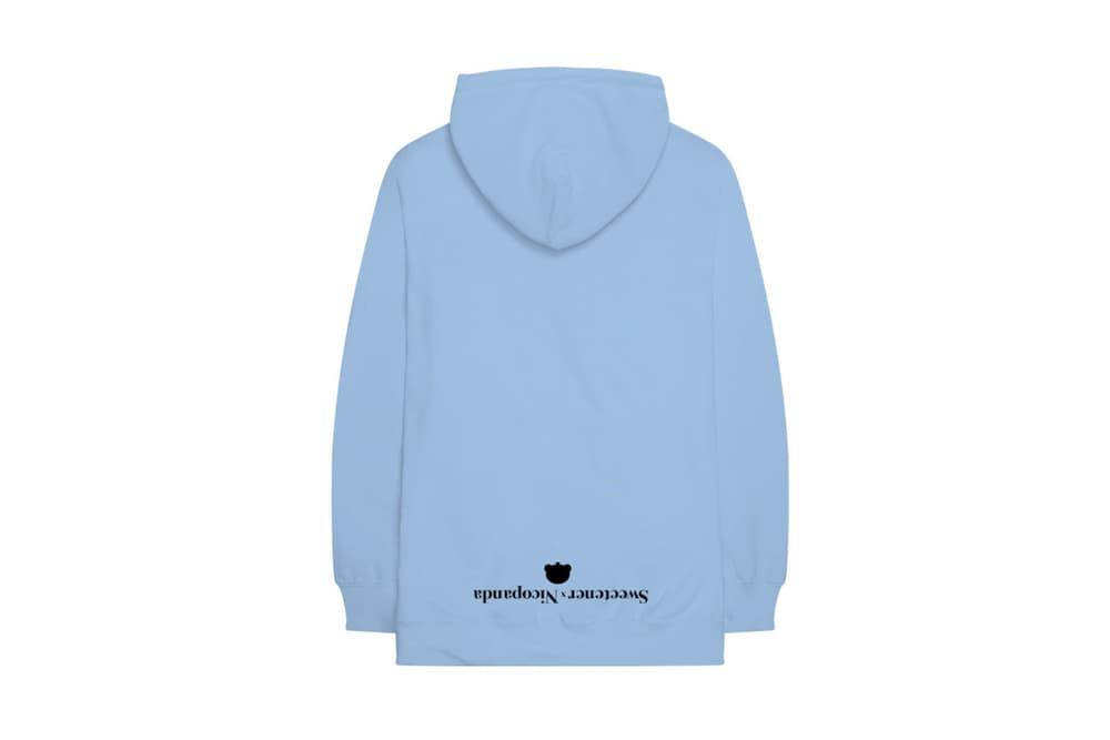 Ariana Grande x NICOPANDA 'Sweetener' Merch Hoodie Exclusive Album Merchandise Collection Pink Blue