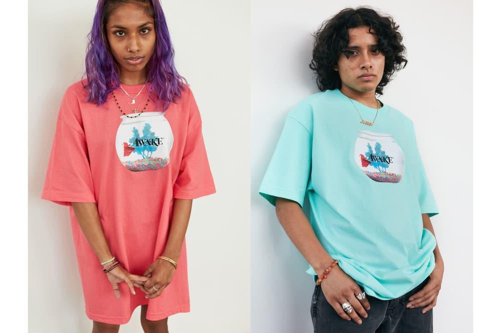 Awake NY Mid-Summer 2018 Lookbook Fish Bowl T-shirt Coral Seafoam