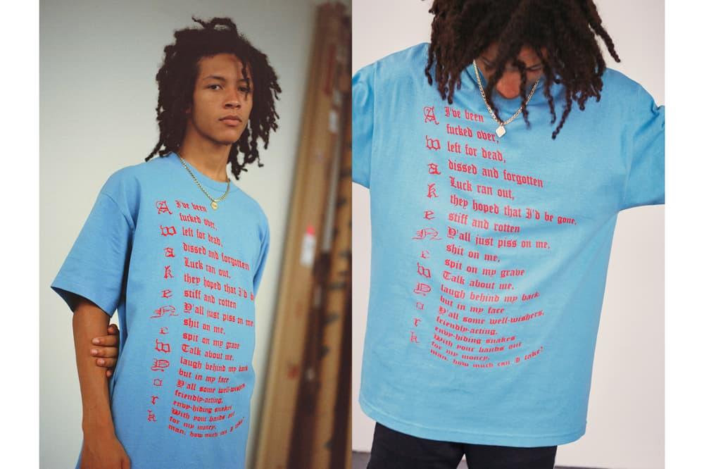Awake NY Mid-Summer 2018 Lookbook Ether T-shirt Light Blue