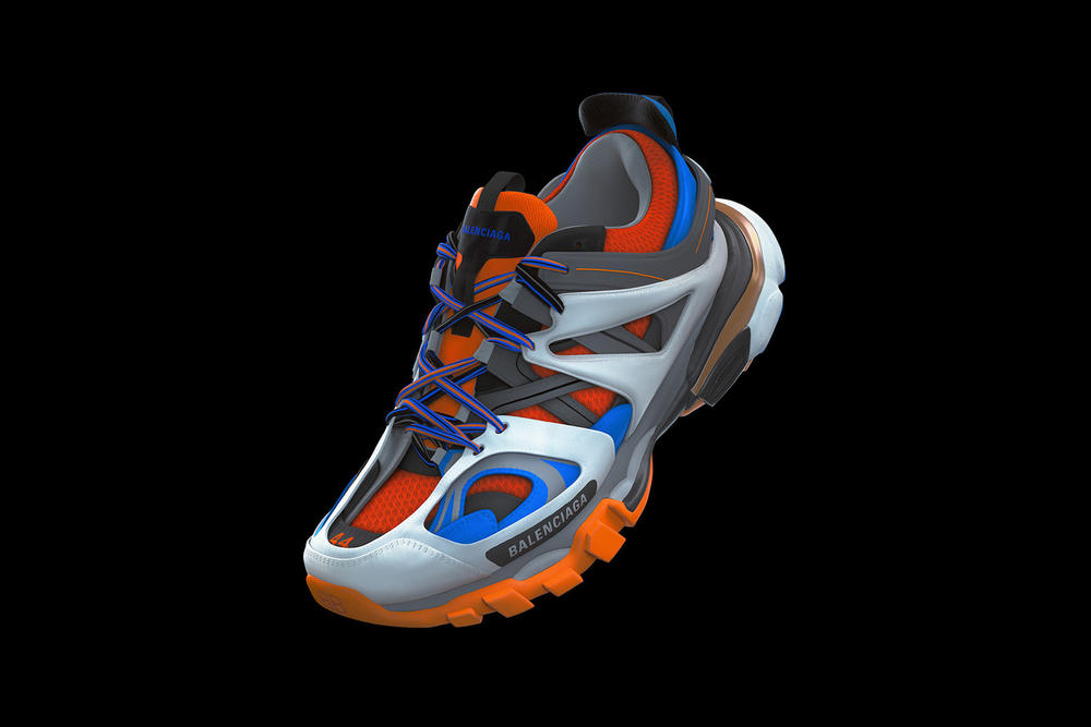 Balenciaga Track Sneaker Orange White Grey Blue