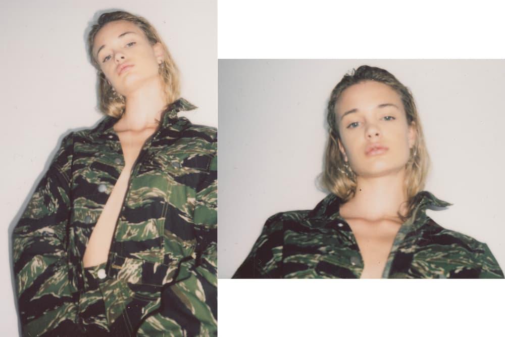 Brashy Studios Pre-Fall 2018 Collection Lookbook Cropped Jean Jacket Tiger Camo