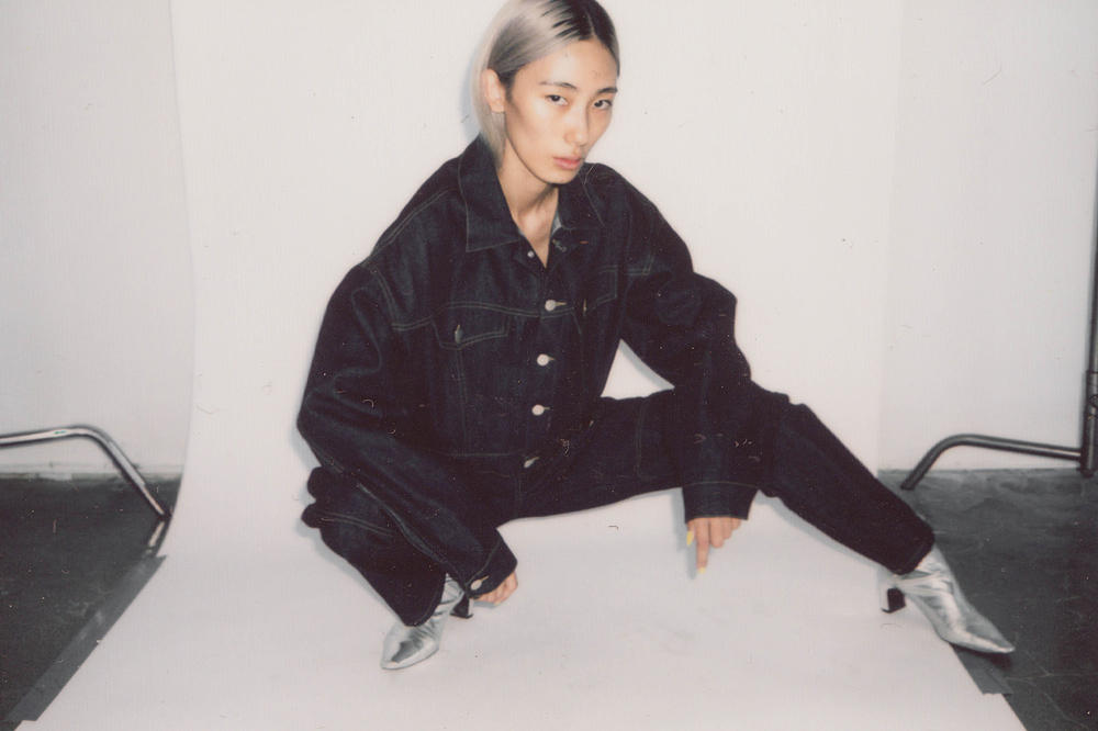 Brashy Studios Pre-Fall 2018 Collection Lookbook Cropped Jean Jacket 5-Pocket Raw Indigo