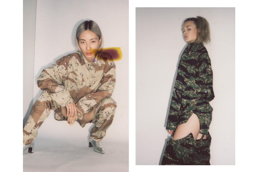 Brashy Studios Pre-Fall 2018 Collection Lookbook Cropped Jean Jacket Desert Camo Work Chap Tiger