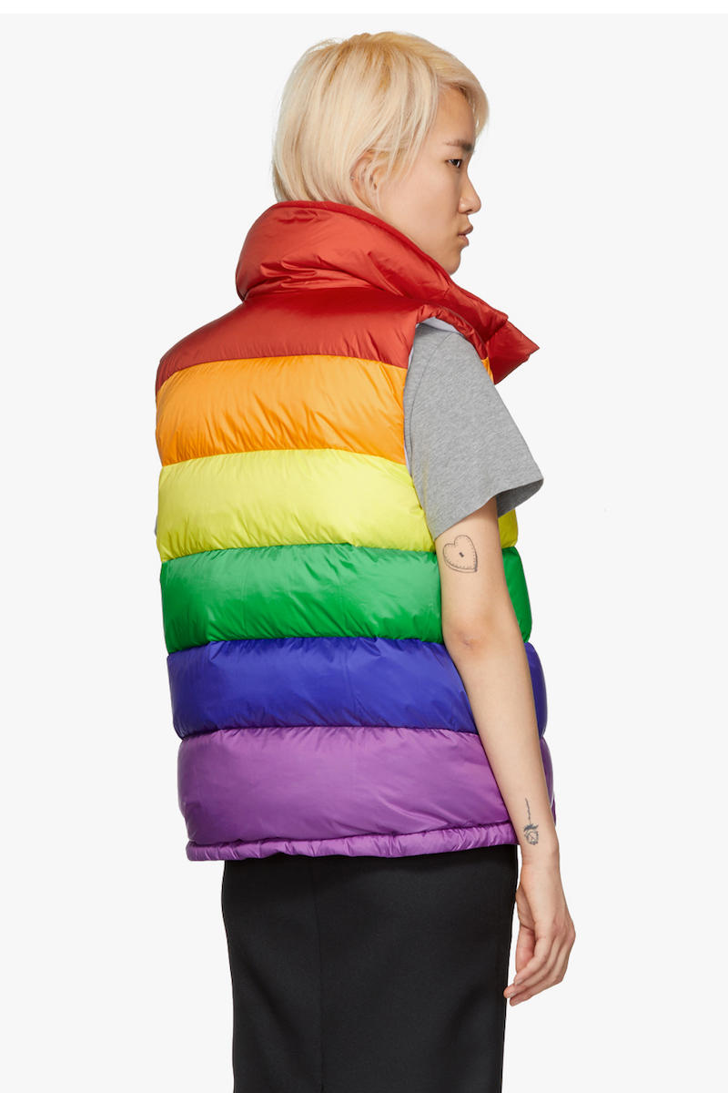 Burberry Rainbow Collection New Arrivals Vest Knit Color Pattern Logo Pieces