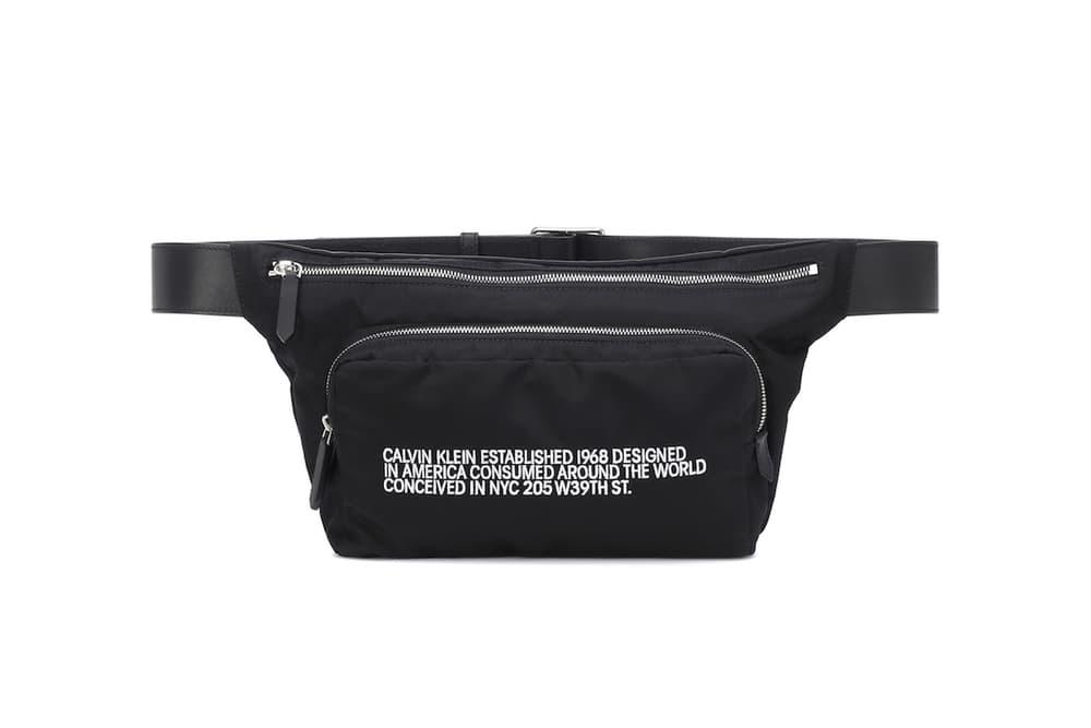 CALVIN KLEIN 205W39NYC Designer Belt Bag Cross-Body Purse Pouch Leather Raf Simons