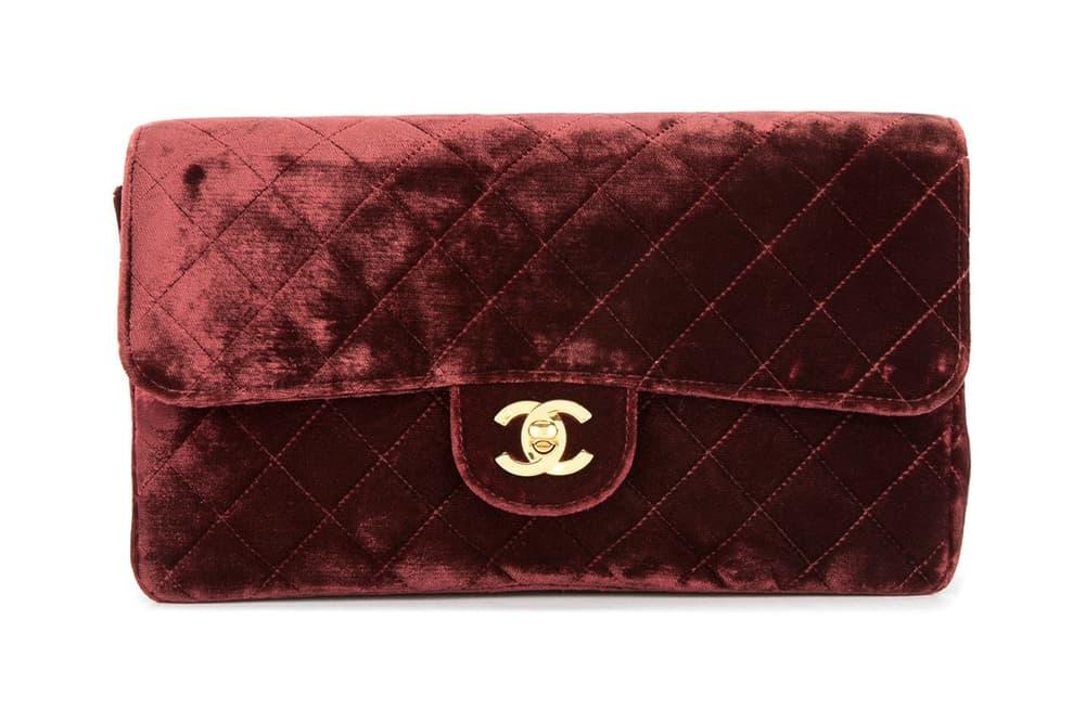 82f225782c59 Where to Buy Chanel Vintage Velvet Backpack Bordeaux Red