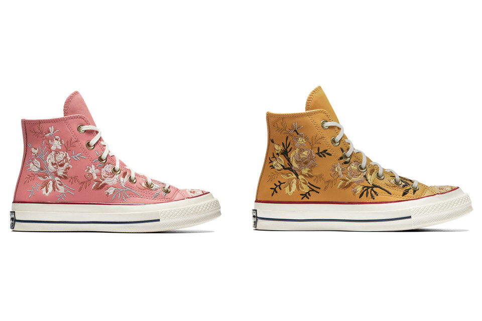 Converse Chuck 70 Embroidered Floral Sneakers  799e80363