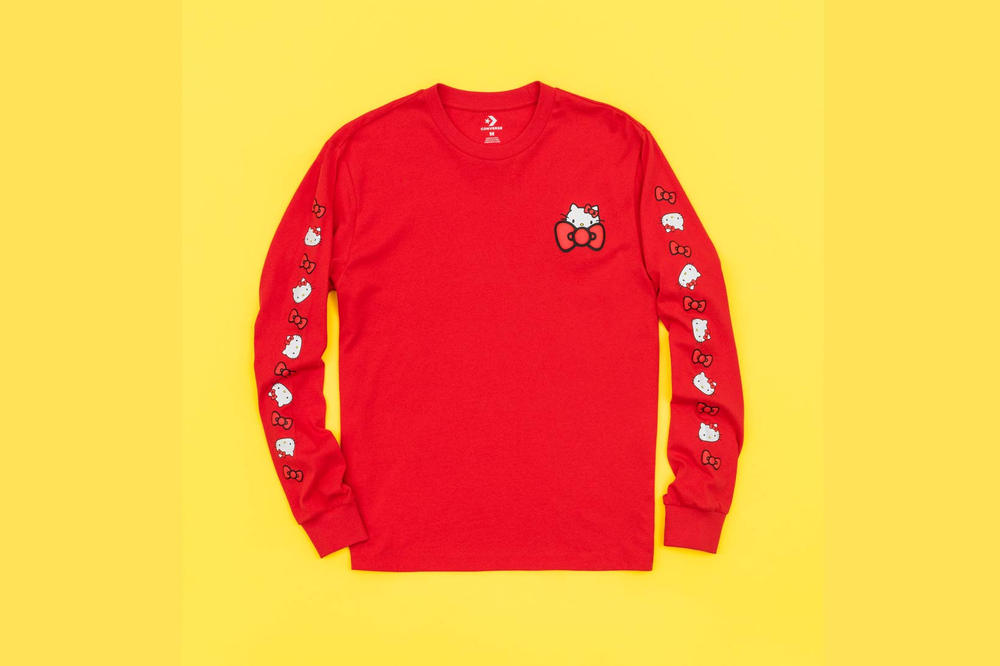 Hello Kitty Converse T Shirt Red Long Sleeve