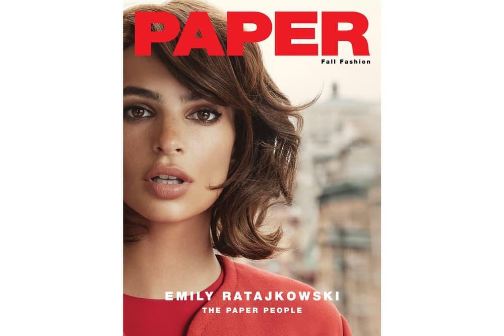 Emily Ratajkowski Paper Magazine September 2018 Issue Cover Valentino Jacket Red