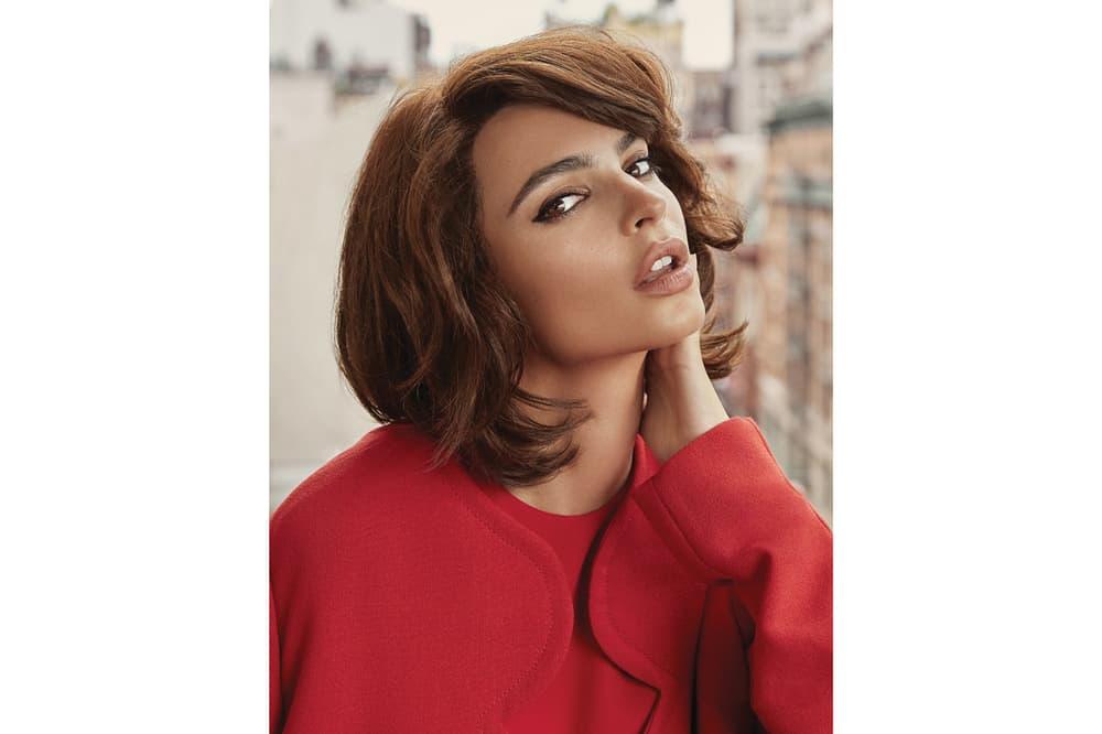Emily Ratajkowski Paper Magazine September 2018 Issue Valentino Jacket Red