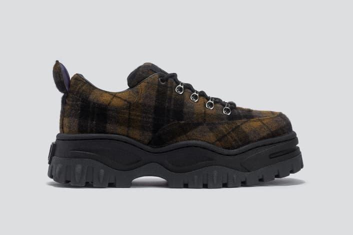 Eytys Angel Tartan Sneaker Brown Black
