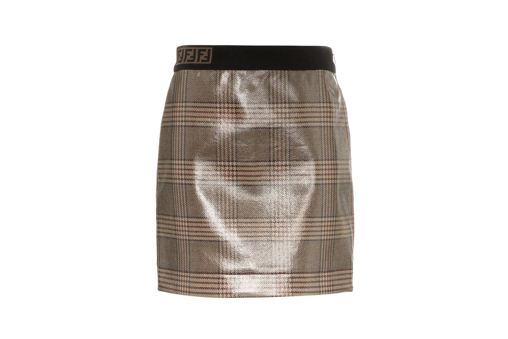 Fendi Check Mini Skirt