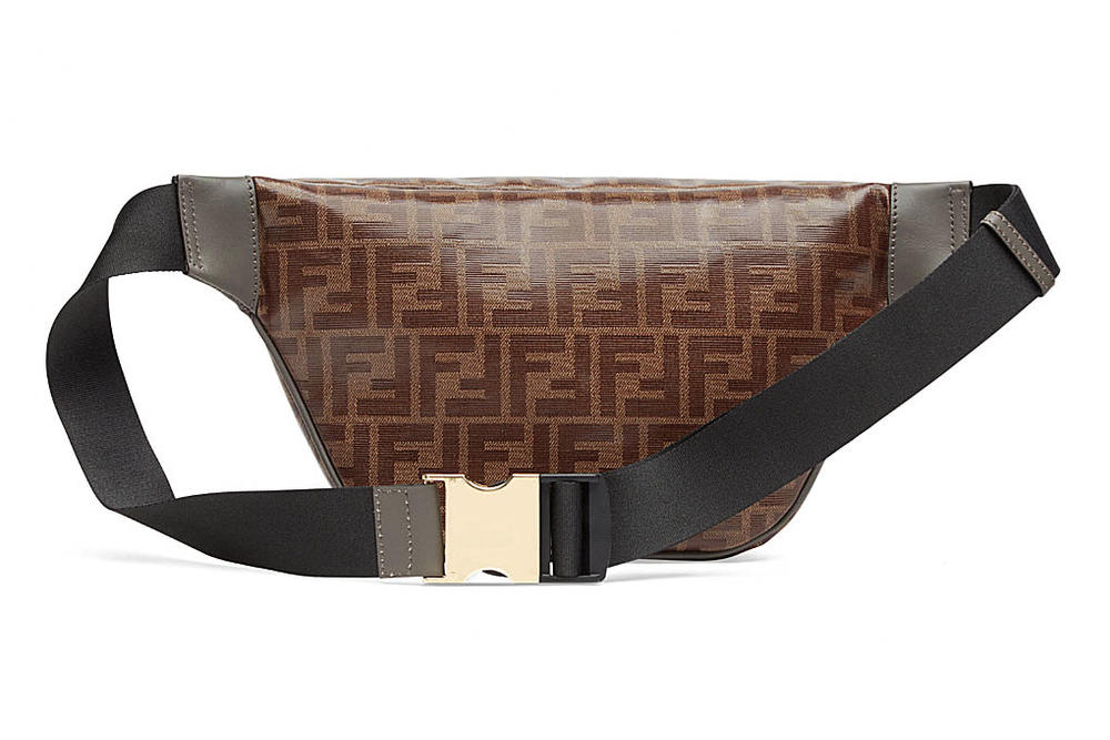 Fendi FILA Brown Monogram Fanny Pack Bum Bag