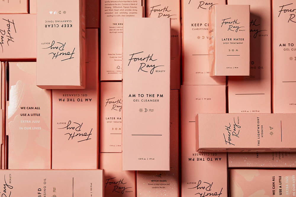 ColourPop Skincare Sister Brand Fourth Ray Beauty Products Packaging