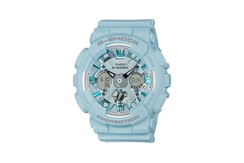 G-Shock S Series Pastel Color Watch Collection Light Blue