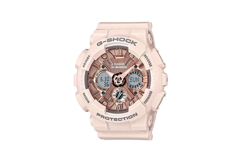 G-Shock S Series Pastel Color Watch Collection Pink Rose Gold