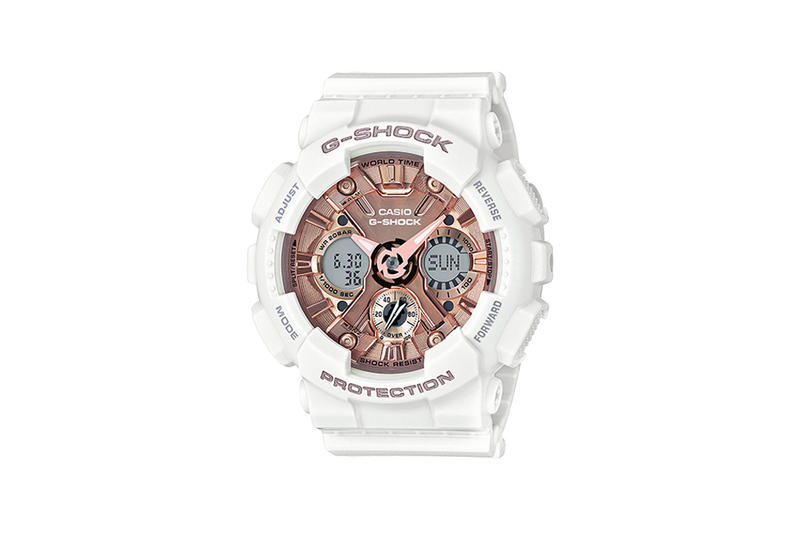 G-Shock S Series Pastel Color Watch Collection White Rose Gold