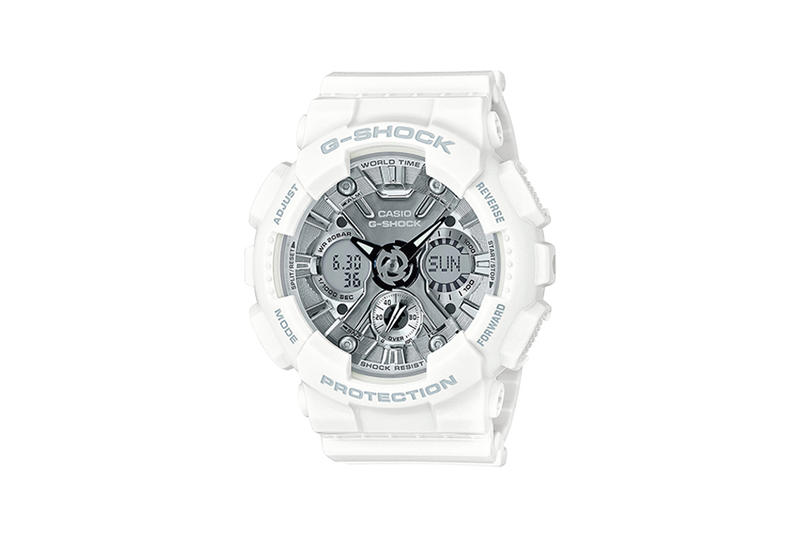G-Shock S Series Pastel Color Watch Collection White Silver