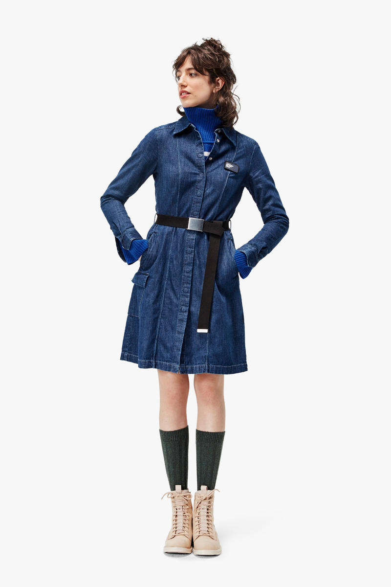 G-Star RAW Fall/Winter 2018 Lookbook Denim Dress Blue