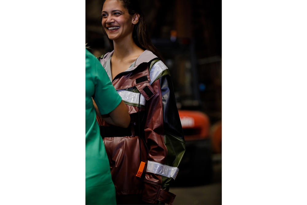 GANNI Copenhagen Fashion Week Backstage Spring Summer 2019 SS19 Jacket Maroon Black Green