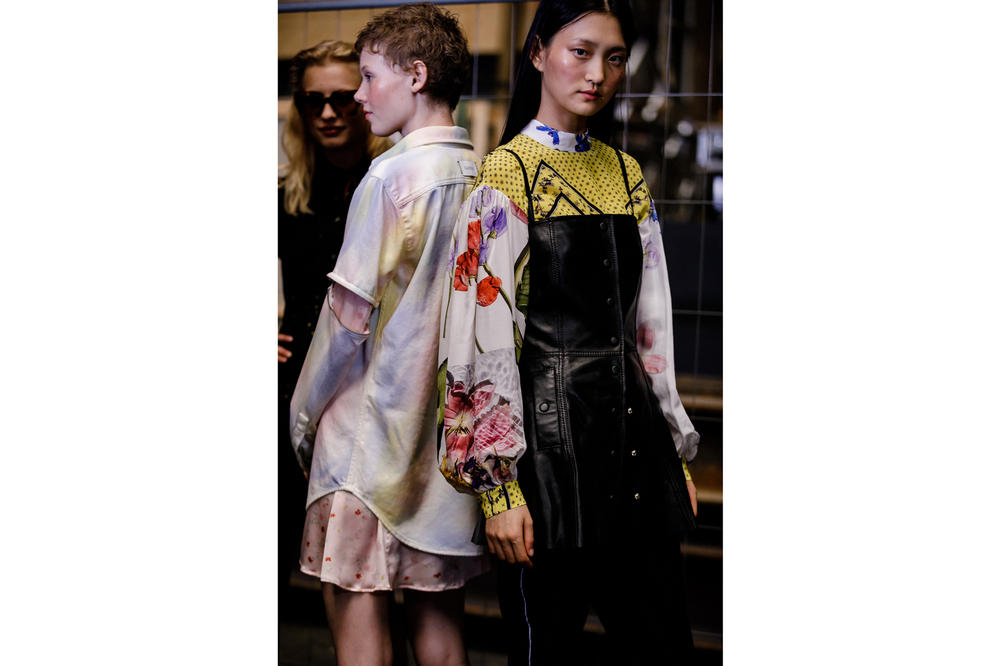 GANNI Copenhagen Fashion Week Backstage Spring Summer 2019 SS19 Top White Yellow Bustier Black