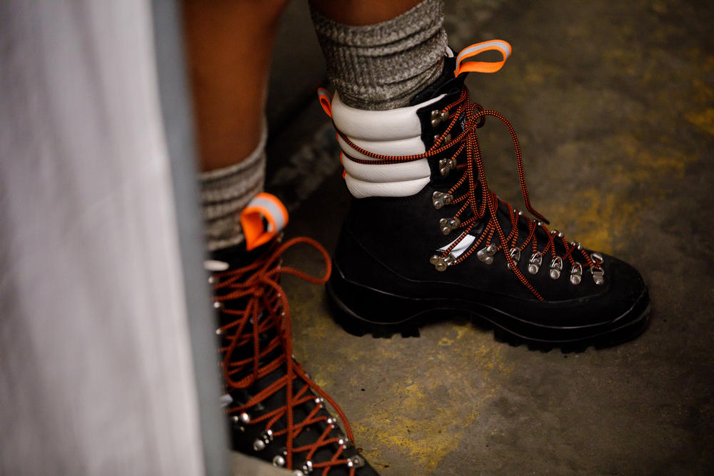 GANNI Copenhagen Fashion Week Backstage Spring Summer 2019 SS19 Hiking Boots Black White