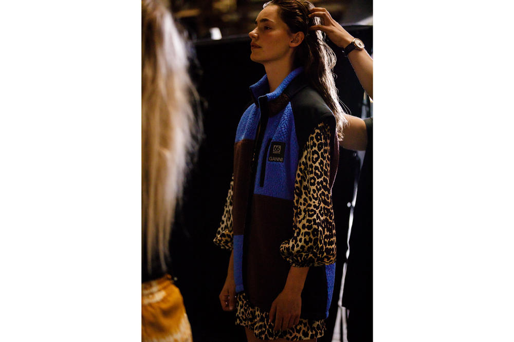 GANNI Copenhagen Fashion Week Backstage Spring Summer 2019 SS19 Vest Black Blue