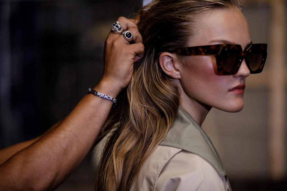 GANNI Copenhagen Fashion Week Backstage Spring Summer 2019 SS19 Sunglasses Brown
