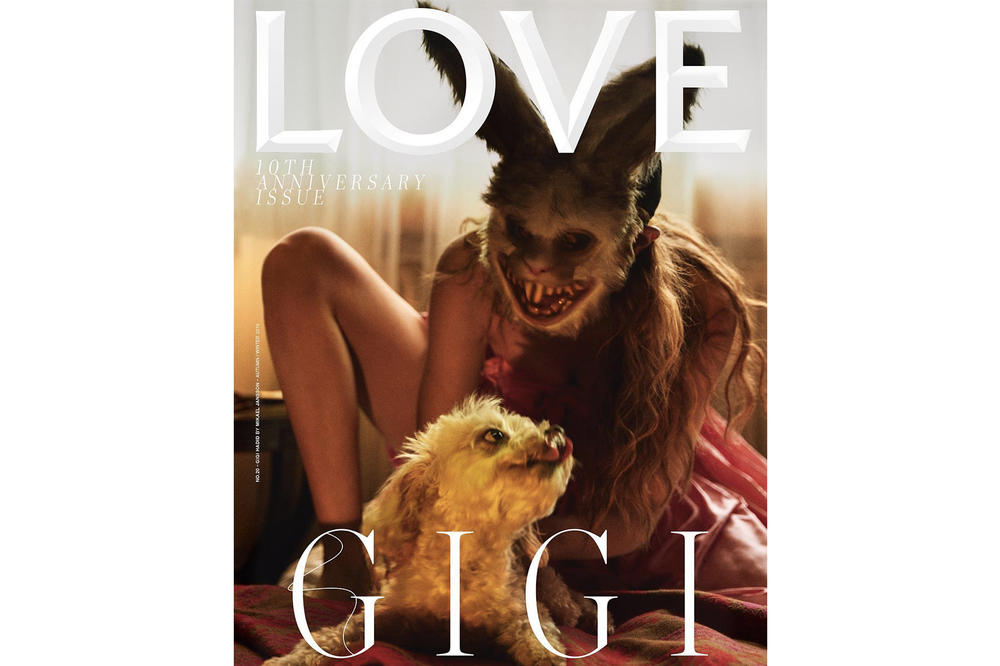 Gigi Hadi Kendall Jenner LOVE Magazine Cover 10th Anniversary Issue Katie Grand Mikael Jansson Alasdair McLellan