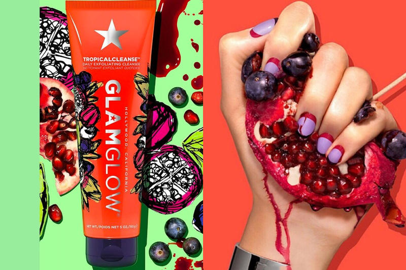 GLAMGLOW TropicalCleanse Daily Exfoliator Face Wash Clean Skincare New Product Release Pomegranate