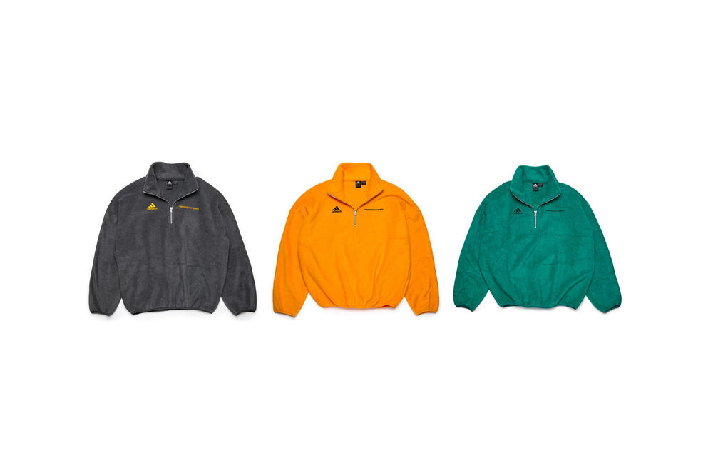 5df96f2df Gosha Rubchinskiy Fall/Winter 2018 Second Drop Fleece Sweaters Grey Orange  Green