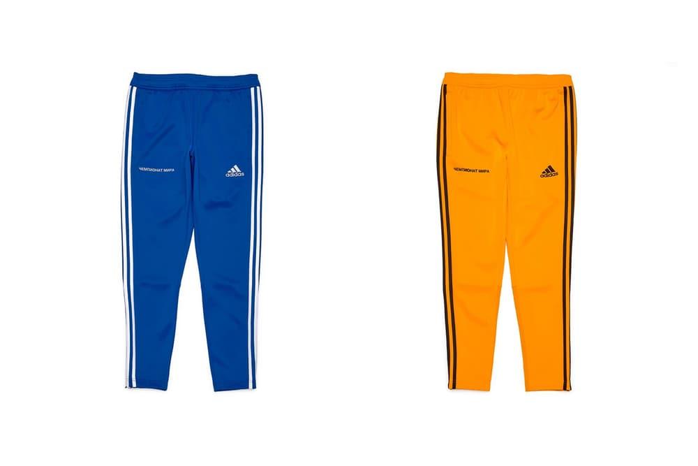 Gosha Rubchinskiy Fall/Winter 2018 Second Drop Sweatpants Blue Orange
