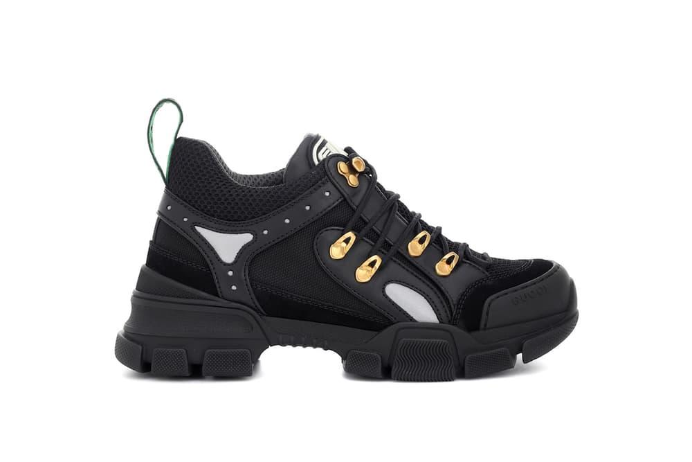 Gucci Flashtrek Leather Sneaker Black