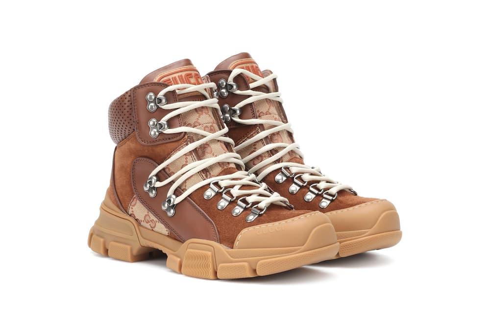 Gucci Flashtrek GG High-Top Sneaker Beige