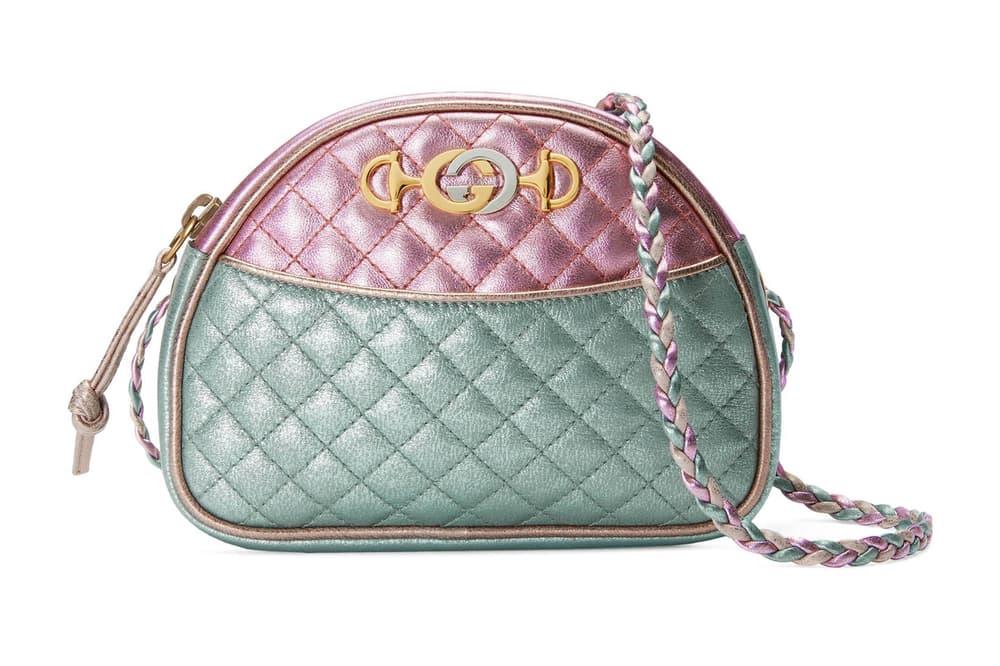 fad7dd6608b1 Gucci Metallic Leather Mini Bag Pink Blue Green Red