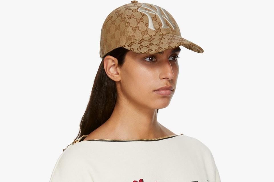 Gucci NY Yankees Monogram Baseball Cap  e946ddad9e8